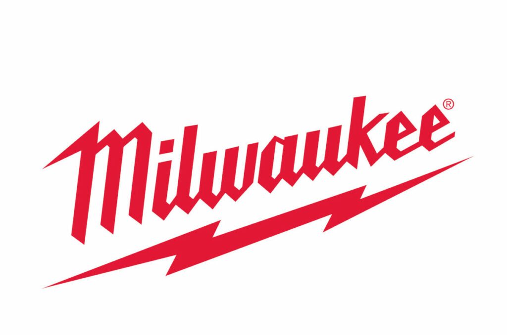 Milwaukee(R) Logo  *Brand guidelines prefer a white logo on red background or a white logo in a red box when a white background is needed. Only use this red logo when the preferred choice is not an option.
